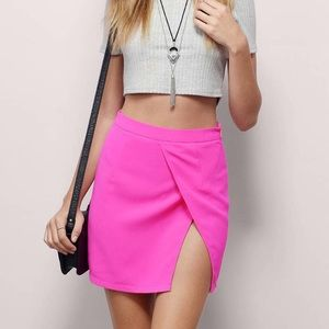 Neon Yellow Tobi Mini Skirt